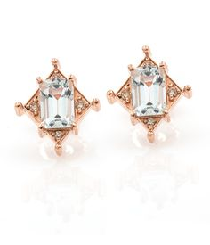 Art Deco Gemstone Earrings