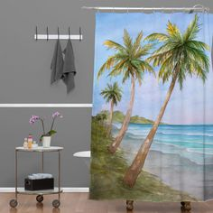 Rosie Brown Swaying Palms Shower Curtain | DENY Designs Home Accessories