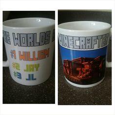 Personalized minecrafter mug. www.facebook.com/mgspromos