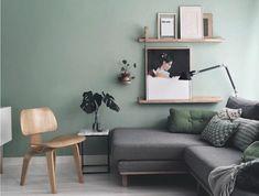 deco-salon-moderne-couleur-peinture-salon-vert-pastel-canape-gris-lignes-epurees