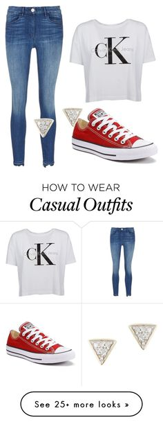"""Casual"" by dancerk38 on Polyvore featuring Converse and Adina Reyter"