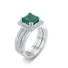 Rosendorff Green With Envy Collection Emerald and Diamond Ring