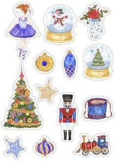 Скрапбукинг, рукоделие Cute Christmas Ideas, Christmas Tag, Winter Christmas, Christmas Crafts, Journal Stickers, Scrapbook Stickers, Scrapbook Cards, Christmas Stickers Printable, Printable Planner Stickers