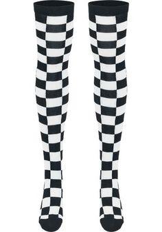 Ladies Checkerboard Overknee Socks - Kniekousen van Urban Classics