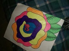 my colorfu rose: Im a 17 year old single mom who loves to draw so i drew this rose and colored it multiple colors and each color has its on meaning which represents my