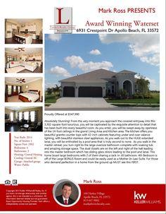 Stunning Luxury Home in Award Winning Waterset!!  6931 Crestpoint Dr