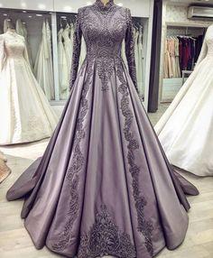 wedding dresses for mothers Muslimah Wedding Dress, Hijab Wedding Dresses, Bridal Dresses, Prom Dresses, Formal Dresses, Dress Prom, Hijab Evening Dress, Hijab Dress Party, Evening Gowns