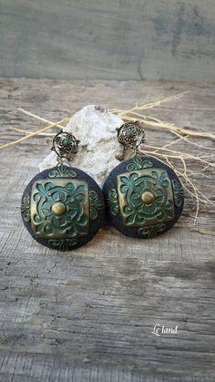 Black Statement Earrings Bohemian Earrings by Lelandjewelry