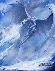Frost Dragon, Joshua Carrenca on ArtStation at https://www.artstation.com/artwork/Omb2y