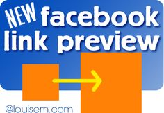 New, Bigger #Facebook Link Preview: Will It Mean More Clicks? --> http://louisem.com/2530/bigger-facebook-link-preview