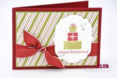 Stampin Up Christmas Weihnachten DSP Seasons of Style DP Stilmix Wishing You More Merry Messages Wunderbare Weihnachtsgrüße Stiched...