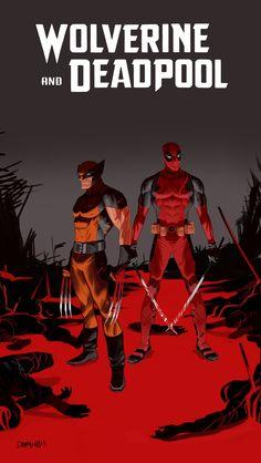 Wolverine and Deadpool by Dan-Mora
