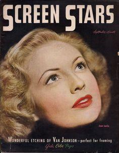 """Joan Leslie on the cover of """"Screen Stars"""" magazine, USA, September 1945."""