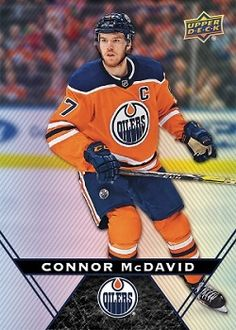Canadian Hockey Cards 2019 Tim Horton's Cards for sale - finish your sets here. Hockey Cards, Baseball Cards, Nhl, Connor Mcdavid, Infinite Earths, Tim Hortons, Edmonton Oilers, National Hockey League, Upper Deck