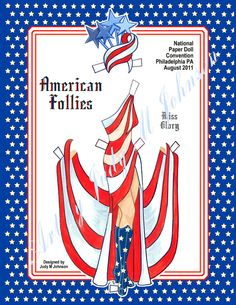 Paper Doll American Follies by J M Johnson Item by JudysPaperGoods, $9.00 * 1500 free paper dolls from artist Arielle Gabriel The International Paper Doll Society for Pinterest paper doll pals *