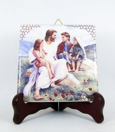 Jesus with Children - catholic art - https://www.etsy.com/it/listing/243456592/jesus-with-children-wall-art-catholic