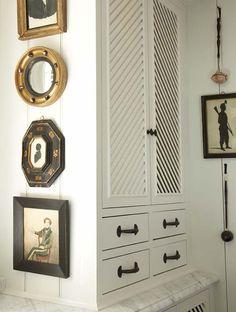Bill Litchfield Designs; diagonal louvered cabinet.