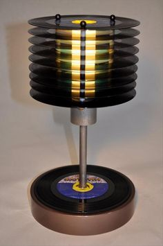 The Best Of Man Cave Accessories: vinyl record lamp.
