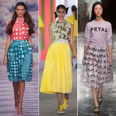 LFW Trends Skirting the Issue: Full skirts aren't just a New York street style trend.