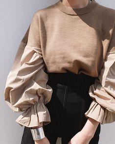 Modest Fashion, Hijab Fashion, Fashion Dresses, Knitwear Fashion, Mode Outfits, Casual Outfits, Diy Mode, Fashion Details, Fashion Design