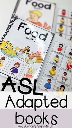 Mrs. Burgen's Sign Me Up  ASL Adapted books for Guided reading for emergent deaf readers