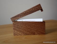 Slim business card holder-Mahogany | Cargoh