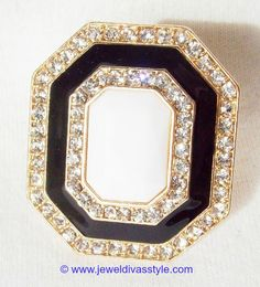JDS - BLACK & WHITE ART DECO RING - http://jeweldivasstyle.com/my-personal-collection-black-and-white-jewellery-3/