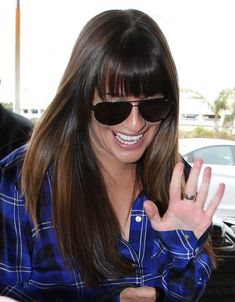 Lea Michele Hair... GAH! Her bangs were touched by magic. This is the only banged style I would consider trying besides a long side bang.