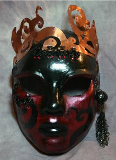 Morgan le Fey - Steampunk and King Arthur inspired mask, OOAK