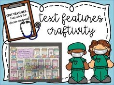 Text Feature Doctor Craftivity by Michelle Little Abc Story, Story Maps, Guided Reading Groups, Reading Skills, Nonfiction Text Features, 5th Grade Reading, Authors Purpose, Resource Room, Future Jobs