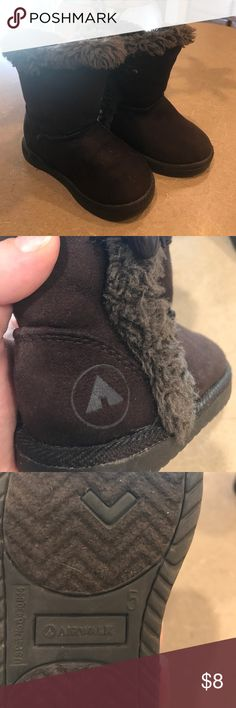 Size 5 brown fuzzy top AIRWALK boots So cute and in great condition.  Brown, size 5 Airwalk Shoes Ankle Boots & Booties