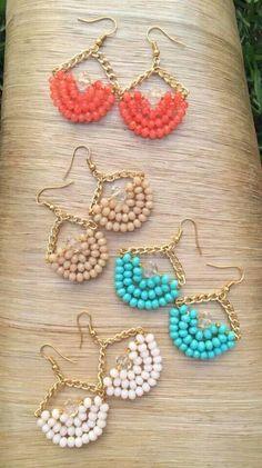 Silver Sparkle Ear Jackets- ear jacket earrings/ silver ear jacket/ front back earrings/ modern earrings/ glam earrings/ gifts for her/ edgy - Fine Jewelry Ideas Beaded Earrings Patterns, Bead Earrings, Beading Patterns, Crochet Earrings, Earrings Online, Circle Earrings, Chandelier Earrings, Beaded Chandelier, Crystal Earrings