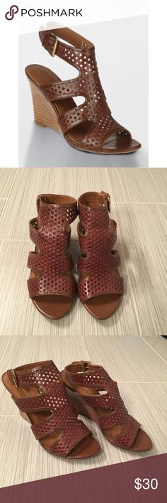 Franco Sarto Gavel Sandal Wedge sandals by Franco Sarto. 3.75inch heel height. Great condition. Perfect for summer and so comfortable. Franco Sarto Shoes Wedges