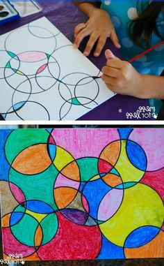 [orginial_title] – Jenn @ Sweet T Makes Three Kids Art Projects – Watercolor Circle Art. The results are always eye catching n… Kids Art Projects – Watercolor Circle Art. The results are always eye catching no matter how kids chose to paint it! Classe D'art, Watercolor Circles, Kids Watercolor, Watercolor Painting, Time Painting, Painting Art, Circle Painting, Acrylic Paintings, Circle Art