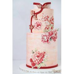 Cheongsam design of Western-style wedding cake - phoenixsweets