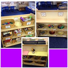 The creative area shelving providing lots of choice and necessary resources.