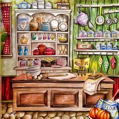 My lovely kitchen in country styleNew video is up on my YT@Shirley_Tutopia. Coloring book: #romanticcountry by @eriy06 Medium✏️:#prismacolor Premier  #coloringbook #coloredpencil #colouring #colouringbook #coloringtutorial #塗り絵の本 #大人ノ塗リ絵 #著色本