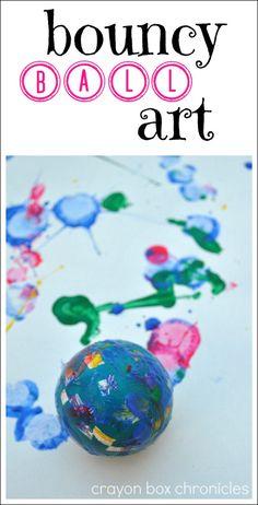 Bouncy ball art @Heather Creswell Creswell Creswell Creswell Creswell {Crayon Box Chronicles}
