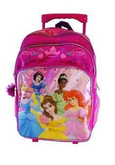 Disney Princess Large Rolling BackPack – Princesses « Clothing Impulse