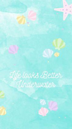 Watercolor Underwater Shells iPhone Wallpaper @PanPins