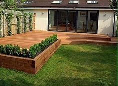"Edging for the deck instead of railings? Only if deck is 12-18"" above grass."