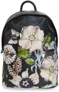 31d2633b6c6 Ted Baker London Gem Gardens Backpack - Black Ted Baker Backpack, Ted Baker  Bag,