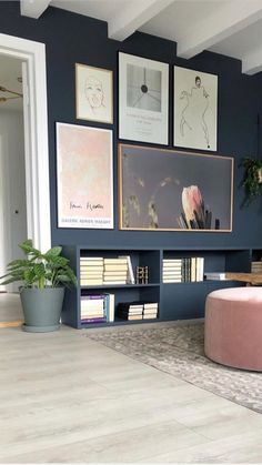 Inspiring way to hide the tv without enclosures o. Living Room Modern, Home And Living, Living Room Designs, Interior Cladding, Framed Tv, Up House, Decor Room, Home And Deco, Living Room Inspiration