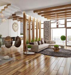 Wohnzimmer idee - - Wohnaccessoires - home living room House Design, Room Design, Modern Living Room Interior, House Interior, Living Room Partition Design, Home Interior Design, Living Room Design Modern, Home And Living, Living Room Decor Inspiration