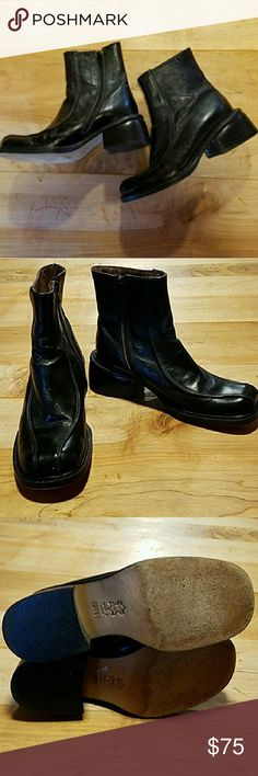Alberto Fermani Black Ankle Booties Size 6.5 Gorgeous Italian leather boots in excellent condition.  These were made to last a lifetime. Italuan size 36.5 Alberto Fermani Shoes Ankle Boots & Booties