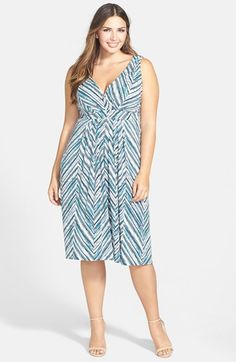 Tart+Print+Surplice+Bodice+Dress+(Plus+Size)+available+at+#Nordstrom