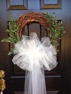 ~~~~~~~~~Created Twists: Guess What We're Having This Year! Wedding Door Decorations, Wedding Wreaths, Bridal Shower Decorations, Wedding Staircase, Wedding Doors, Wedding Ceremony Chairs, Wedding Lanterns, Travel Bridal Showers, Bridesmaid Brunch