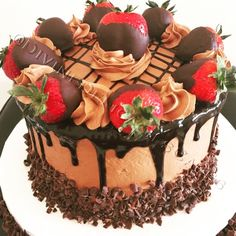- Godiva Chocolate Cake, With Strawberry Filling. Topped With Godiva Chocolate Dipped Strawberries and Chocolate Ganache Drizzle!  By:@DivineDelicaciesCakes