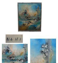 NAHI, (ATELIER DE LA MONNAIE, LILLE) HUILE SUR TOILE, SIGNEE,