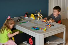 Lego Table DIY from old 80s coffee table